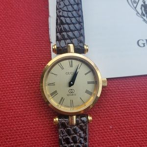 Vintage Gucci Stack Watch Red And Green Web